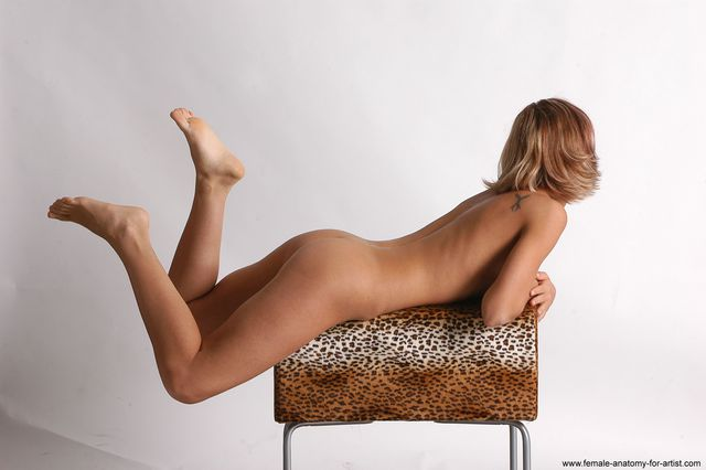Nude Woman White Laying poses - ALL Slim Laying poses - on stomach medium colored