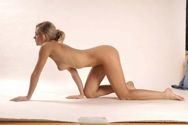Naked Girl Crawling