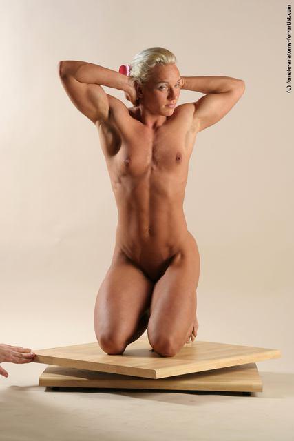 Naked girl with dildo in butt