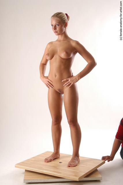 Kvinde Fuld Nude Stående Anatomi - Billede 4 FAP-7114
