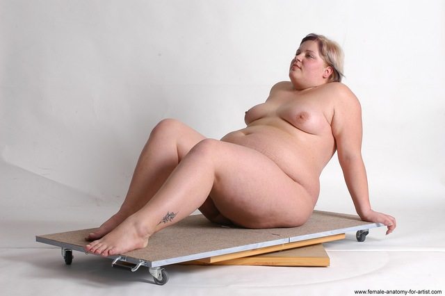 Nude Woman White Sitting poses - ALL Overweight medium colored Sitting poses - simple
