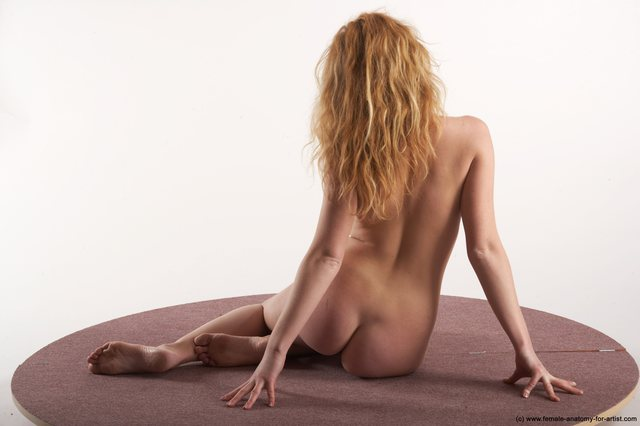 Nude Woman White Sitting poses - ALL Slim medium colored Sitting poses - simple