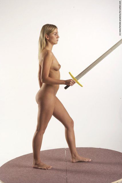naked woman wih a sword
