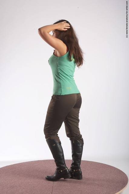 Casual Woman White Standing poses - ALL Slim long brown Standing poses - simple