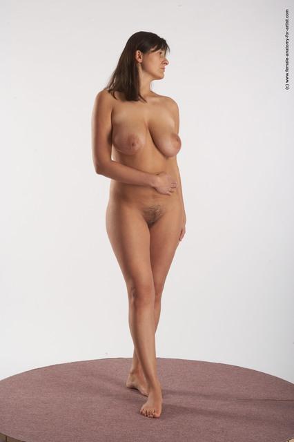nude anatomy Female standing