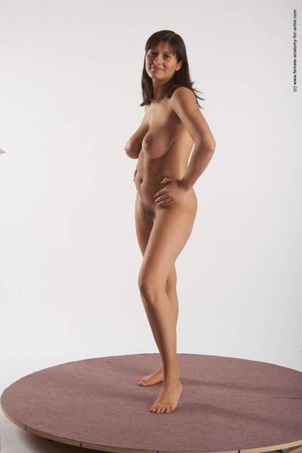 standing female nude pose