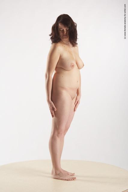 Plain naked white woman