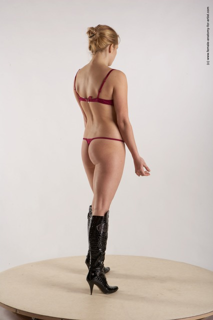 Underwear Woman White Standing poses - ALL Slim long blond Standing poses - simple