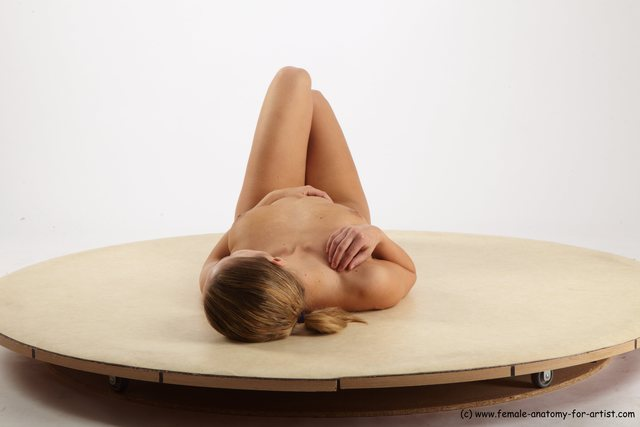 Woman White Kneeling poses - ALL Slim Kneeling poses - on one knee