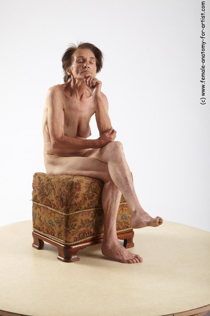and more Nude Woman White Sitting poses - ALL Underweight short grey Sitting poses - simple