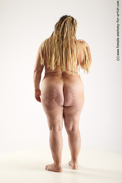 Nude Woman White Standing poses - ALL Average dreadlocks blond Standing poses - simple