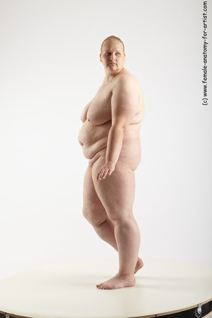 Nude Woman White Standing poses - ALL Overweight medium blond Standing poses - simple