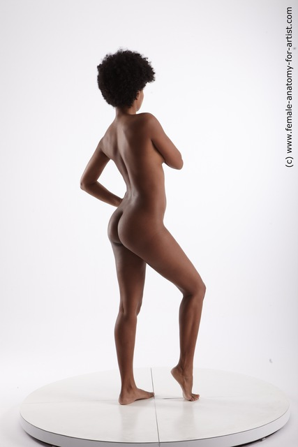 Nude Woman Black Sitting poses - ALL Slim medium black Sitting poses - simple
