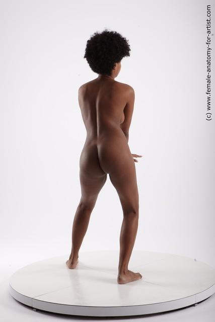 Nude Woman Black Sitting poses - ALL Slim medium black Sitting poses - simple