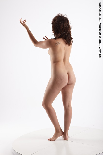 Photo of Nude Woman Multiracial Standing poses - ALL Average long brown Standing poses - simple