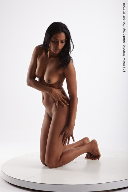 Photo of Nude Woman Black Slim long black
