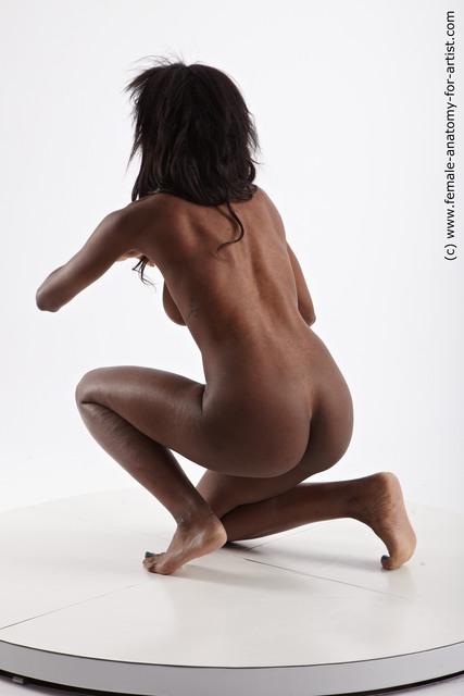 Nude Woman Black Athletic long black