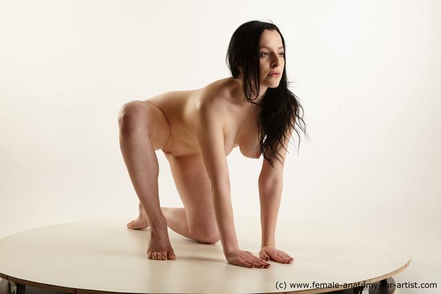 Nude Woman White Average long black