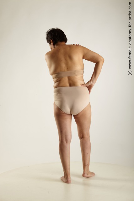 Underwear Woman Asian Standing poses - ALL Overweight short black Standing poses - simple