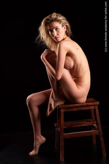 Nude Woman White Sitting poses - ALL Slim medium blond Sitting poses - simple Standard Photoshoot