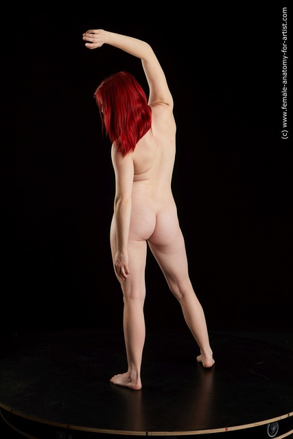 Nude Woman White Standing poses - ALL Average medium red Standing poses - simple Standard Photoshoot
