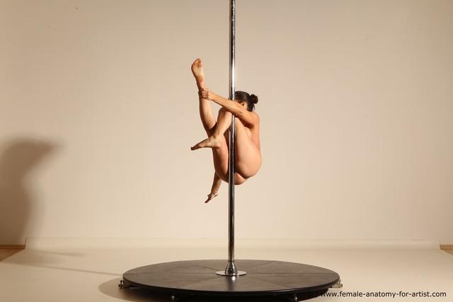 Nude Woman White Average long brown Dancing Dynamic poses