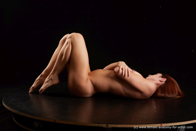 Nude Woman Laying poses - ALL Pregnant Laying poses - on back long brown Standard Photoshoot