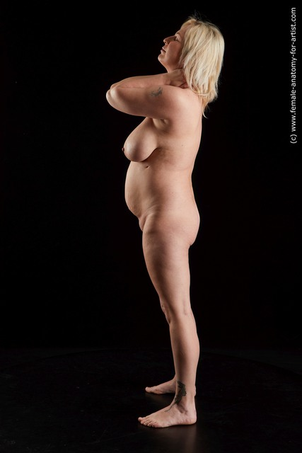 Nude Woman White Standing poses - ALL Overweight medium blond Standing poses - simple Standard Photoshoot