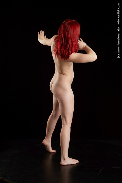 Nude Woman White Average medium red Standard Photoshoot