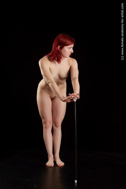 Nude Woman White Average medium red Standard Photoshoot
