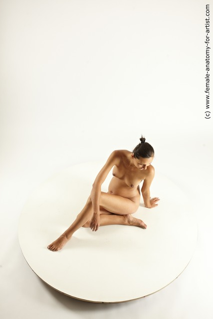 Nude Woman White Pregnant Multi angle poses