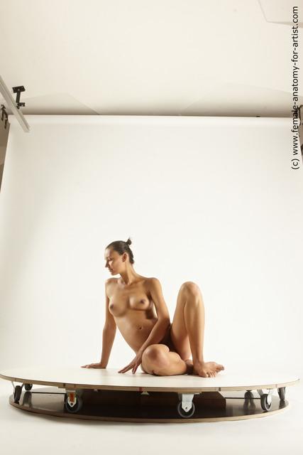 Nude Woman White Pregnant Multi angle poses