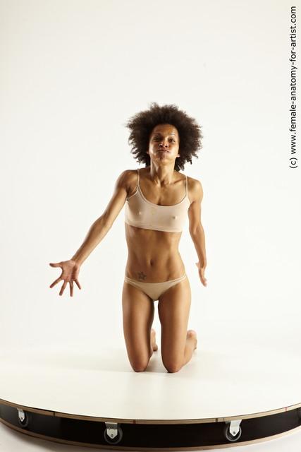 Nude Woman Black Multi angle poses