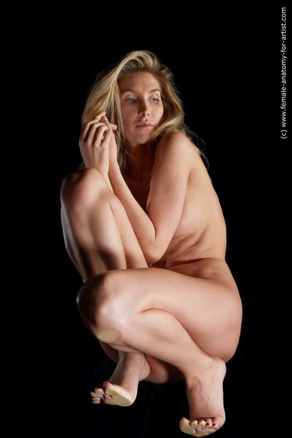 Nude Woman White Hyper angle poses