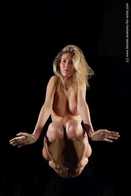 Nude Woman White Slim medium blond Hyper angle poses