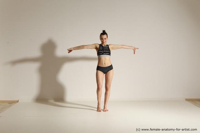 Underwear Woman Dynamic poses