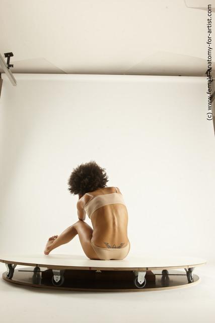 Underwear Woman Black Multi angle poses