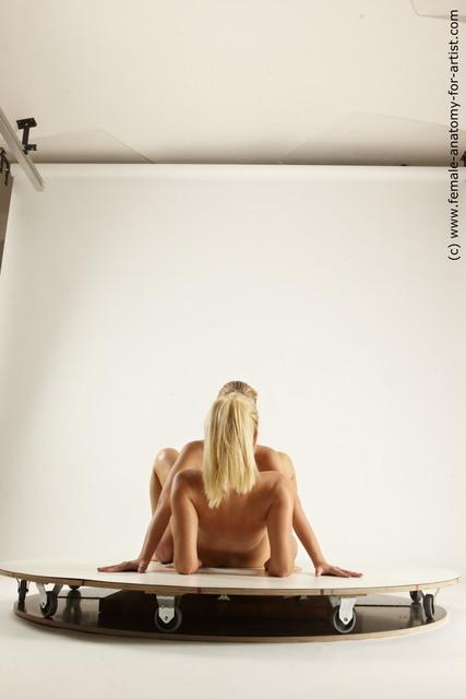 Nude Woman - Woman White Slim long blond Multi angle poses