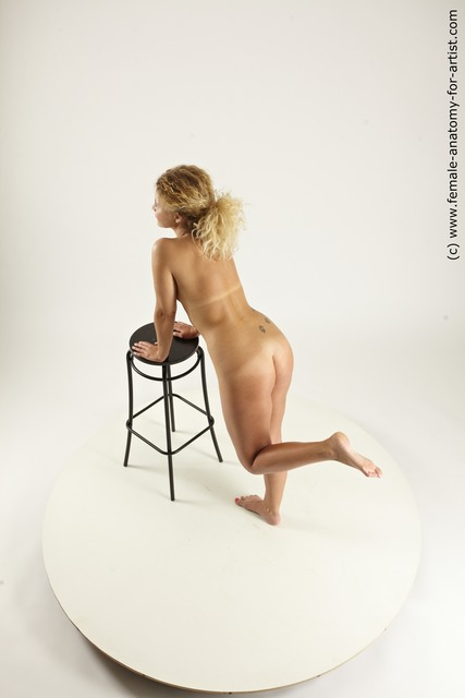 Nude Woman White Sitting poses - ALL Slim medium blond Sitting poses - simple Multi angle poses