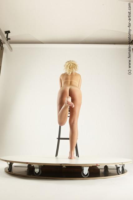 Nude Woman White Sitting poses - ALL Slim medium blond Sitting poses - simple Multi angle poses