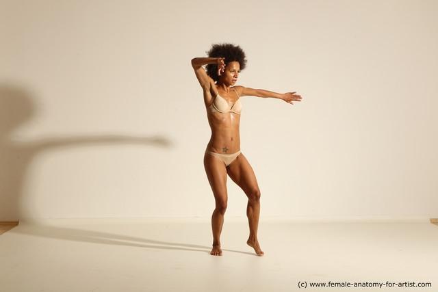 Underwear Woman Black Athletic medium black Dancing Dynamic poses