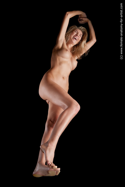 Nude Woman White Slim medium blond Hyper angle poses
