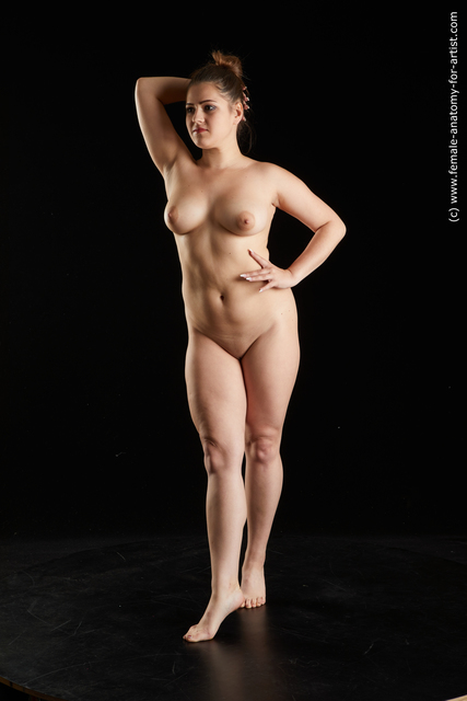 Nude Woman White Sitting poses - ALL Average long brown Sitting poses - simple Standard Photoshoot