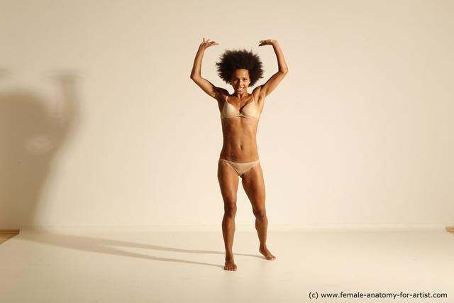 Underwear Woman Black Athletic long black Dancing Dynamic poses