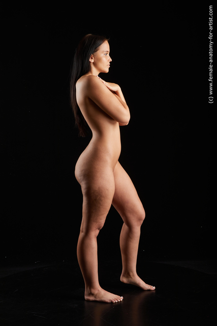 Nude Woman White Standing poses - ALL Average long brown Standing poses - simple Standard Photoshoot