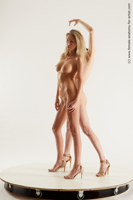 Nude Woman White Standing poses - ALL Slim medium Standing poses - simple Multi angle poses