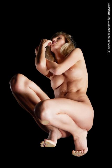 Nude Woman White Slim medium blond Multi angle poses