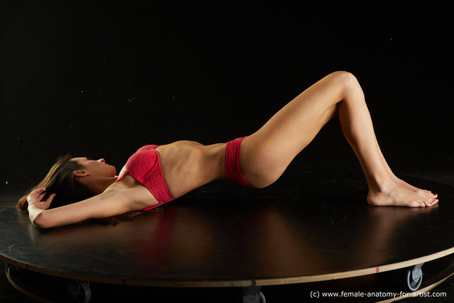 Underwear Woman Multiracial Slim long black Standard Photoshoot