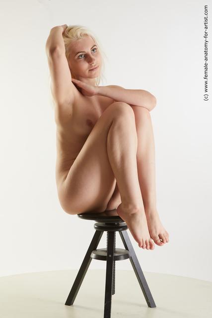 Nude Woman White Average medium blond Standard Photoshoot