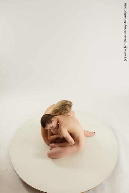 Nude Woman White Sitting poses - ALL Slim medium Sitting poses - simple Multi angle poses